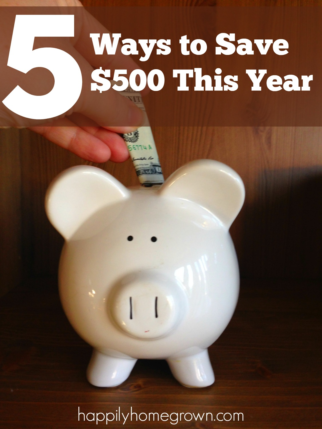 5 Ways to Save $500 This Year, savings