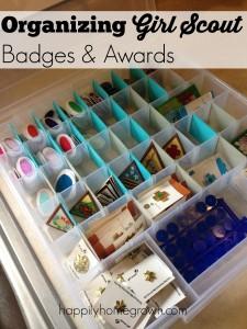 Organizing Girl Scout Badges & Awards