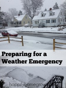 Preparing for Weather Emergencies