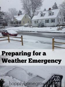 Preparing for Weather Emergencies
