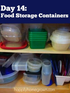 Day 14: Food Storage Containers