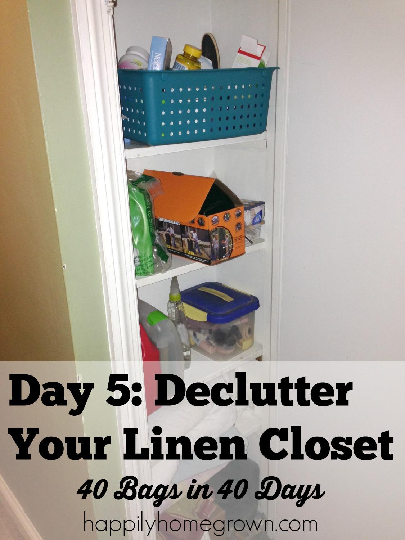 Day 5 declutter your linen closet