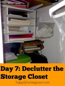 Day 7: Declutter the Storage Closet