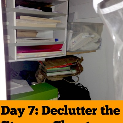 Day 7: Declutter the Storage Closet