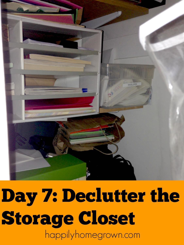 clutter, declutter, storage closet