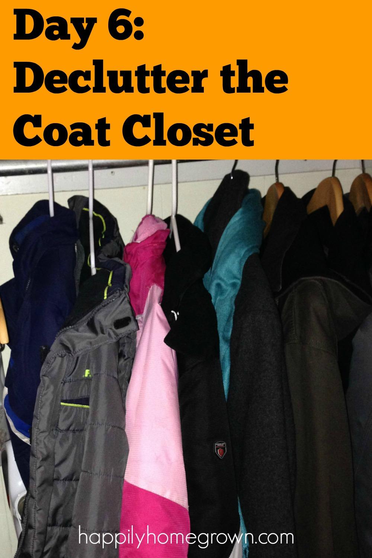 day 6 declutter the coat closet