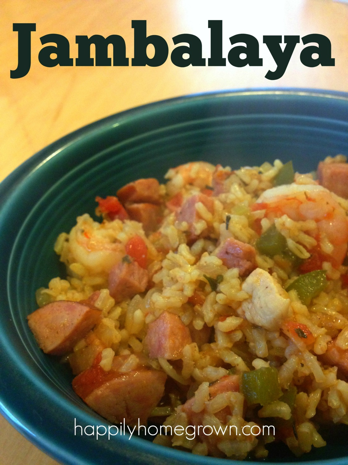 My Jambalaya has big flavors without the heat. A perfect mix of chicken, pork, shrimp, trinity, and rice that has the whole family asking for more.
