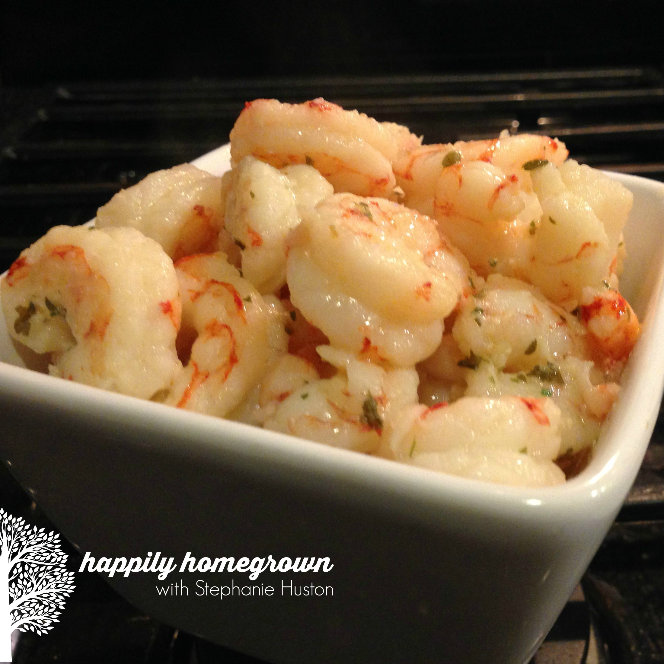sizzling garlic shrimp - perfect for a tapas night or quick and easy, yet elegant dinner for 2.