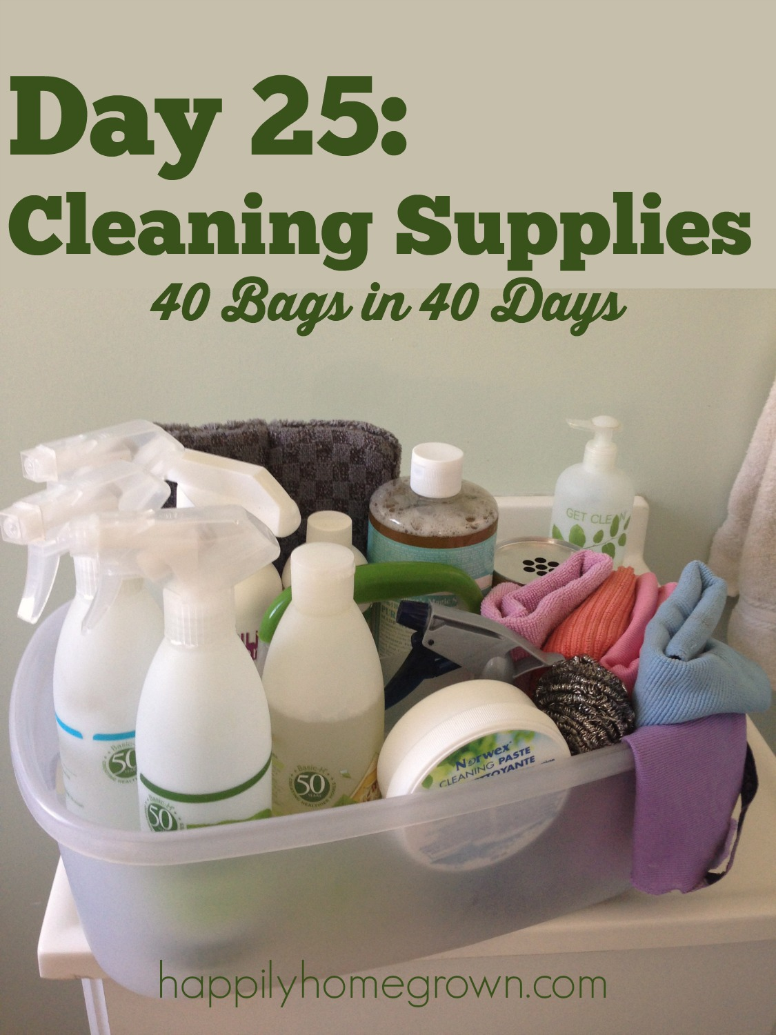 Decluttering your cleaning supplies? Keep what works for your family & what you like, and get rid of everything else. Here is what works for us.