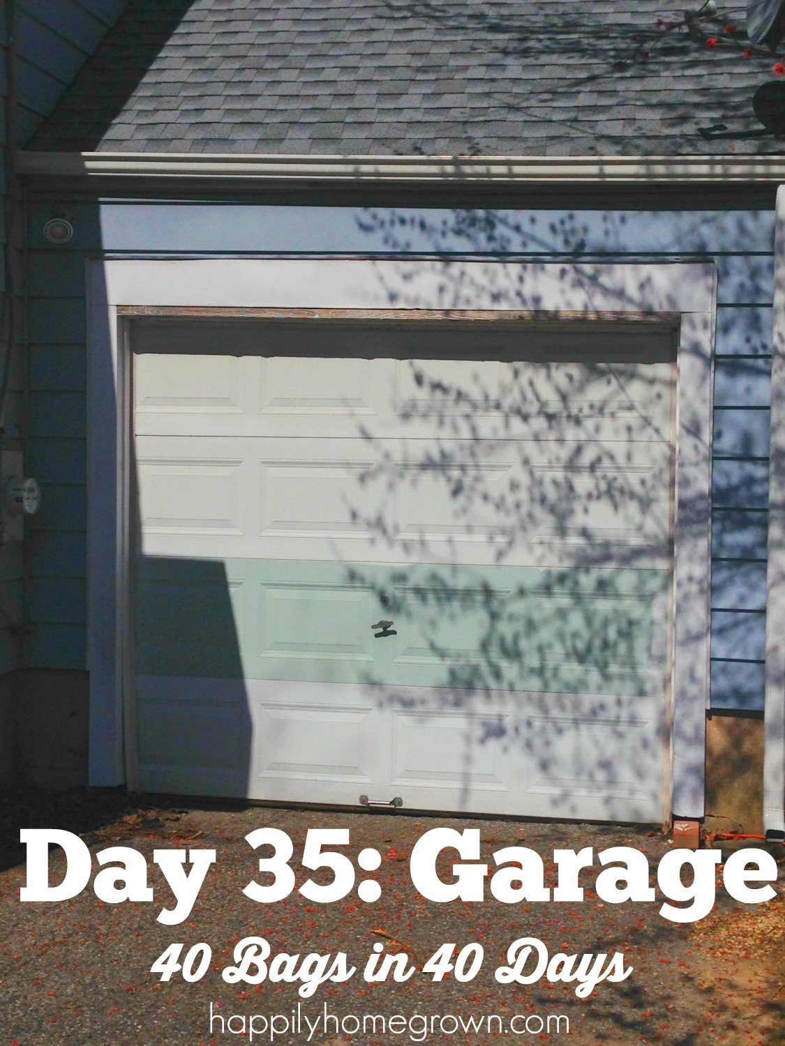 How have you been doing with the 40 Bags in 40 Days Combat Clutter Challenge? Today is Day 35, and we are going to tackle the garage. Are you ready?