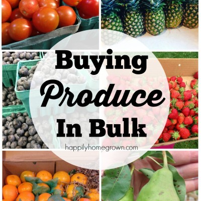 Buying Produce in Bulk