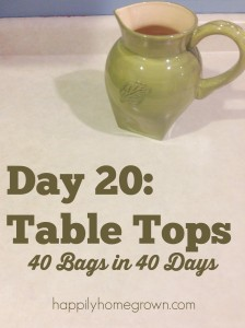 Day 20: Table Tops