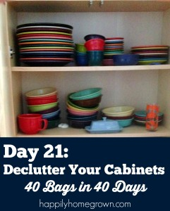Day 21: Declutter Your Cabinets