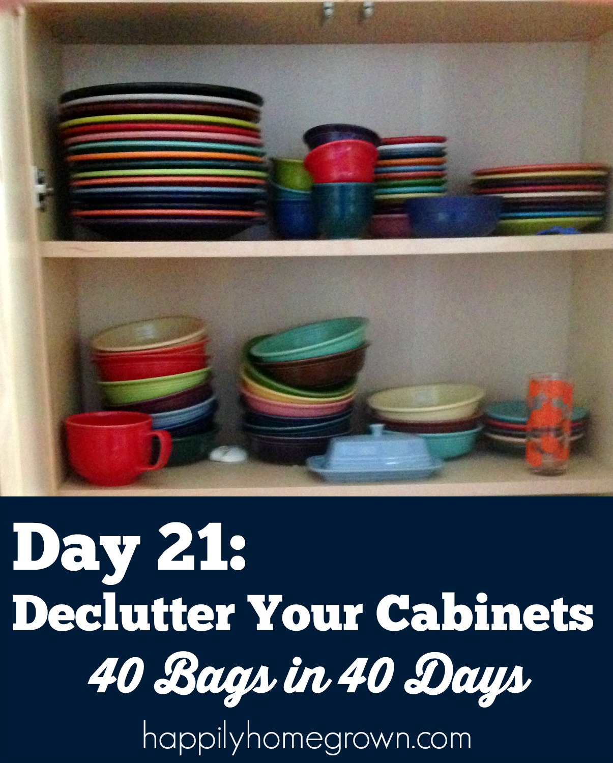 day 21 declutter your cabinets