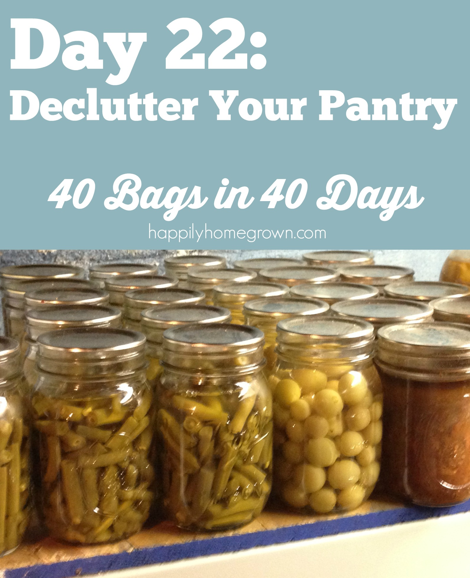 day 22 declutter your pantry