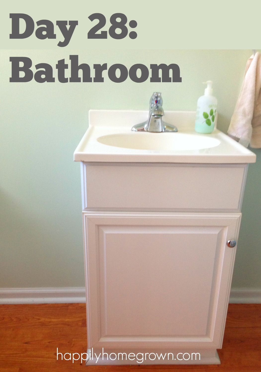 Having a bathroom cleaning schedule has changed our life. The bathroom is always clean, my children know what their chores are, and it never is an overwhelming task.