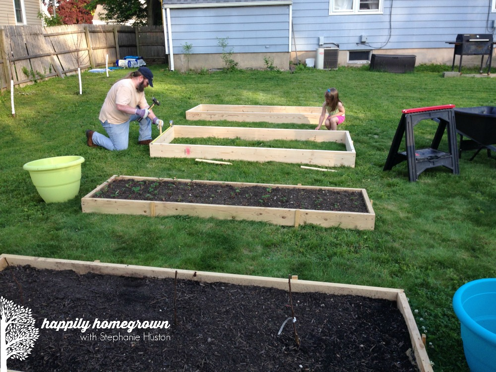 If you've ever looked for raised garden beds, you know there are hundred of options. Here is an easy DIY raised garden bed that anyone can make!