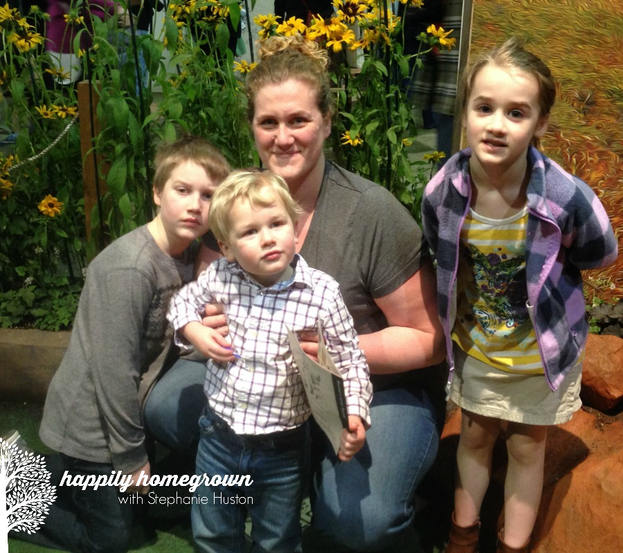 me & the kids at the flower show