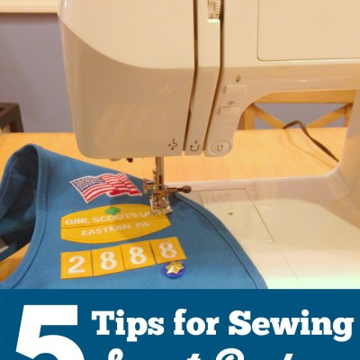 5 Tips for Sewing Scout Badges
