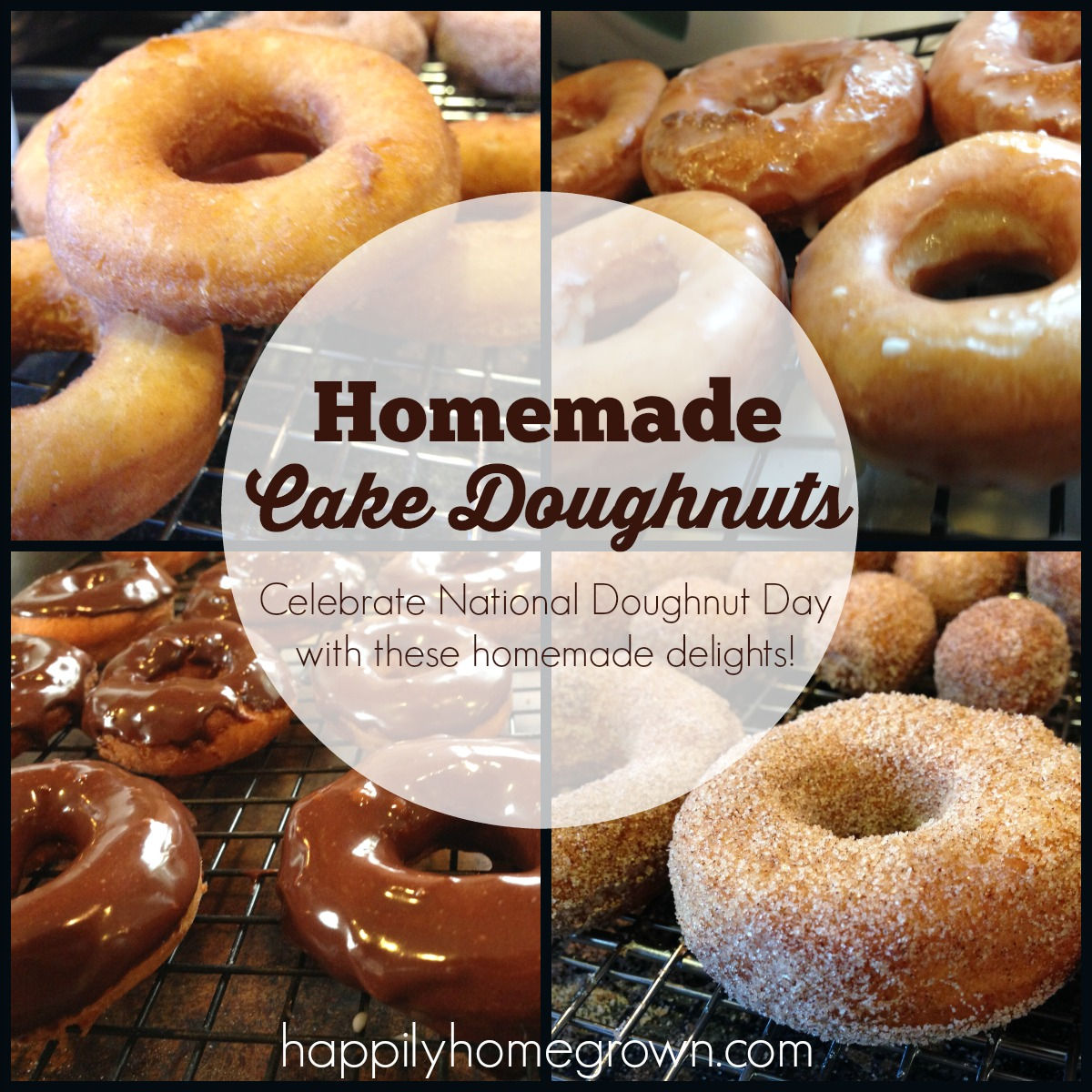 Celebrate National Doughnut Day, or any day, with these amazingly simple, yet absolutely delicious doughnuts fresh from your own kitchen.