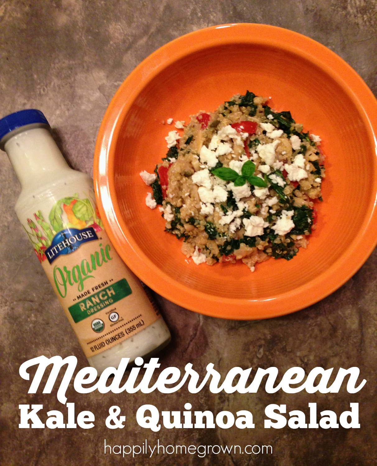 Don't eat food you can't pronounce, except for quinoa. Eat quinoa - especially in this delicious Mediterranean Kale & Quinoa Salad. #seethelite #ad