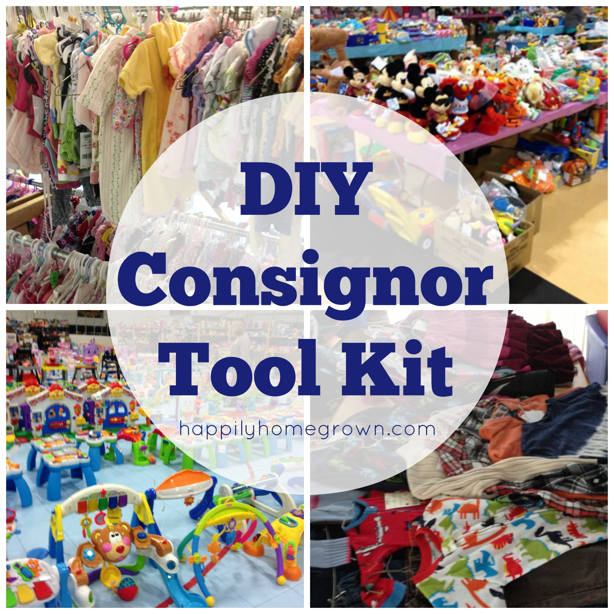 By creating your own consignor tool kit, you will have all of the items you require at your finger tips ready to go each consignment season!