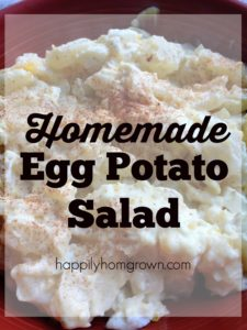 Homemade Egg Potato Salad delicious enough to impress company, and easy enough to throw together for any picnic or potluck.