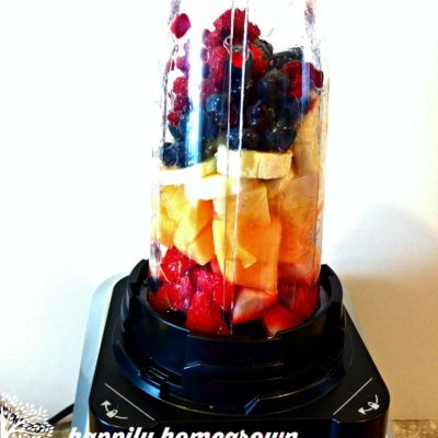 Rainbow Smoothie: Eat A Rainbow Every Day!