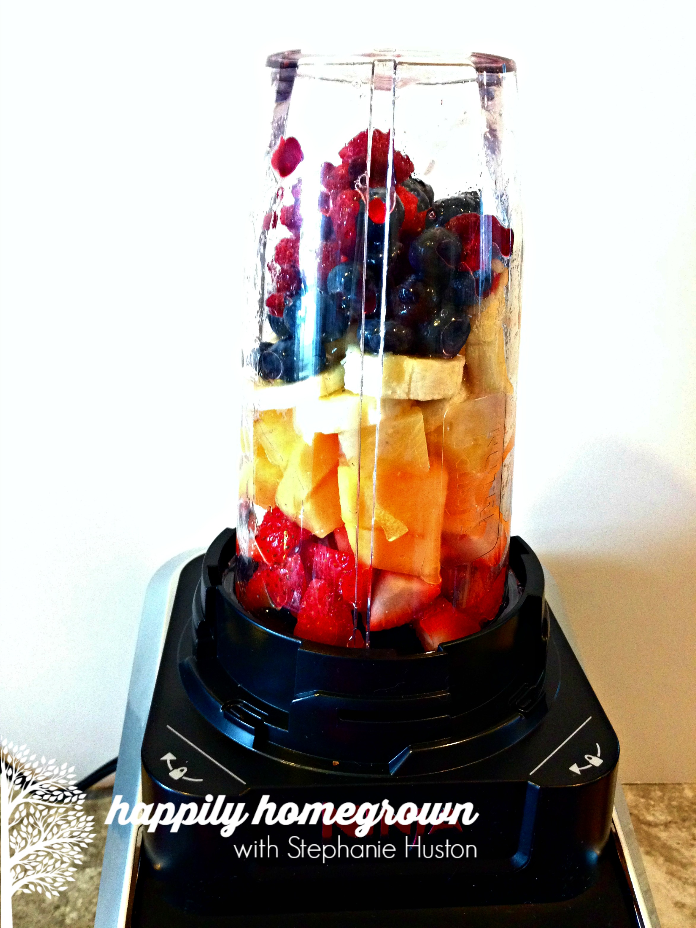 Eat a rainbow daily. Consume 4-5 cups of fruits and vegetables each and every day. Here's how I get 75% of my fruit & veggies out of the way first thing in the morning!