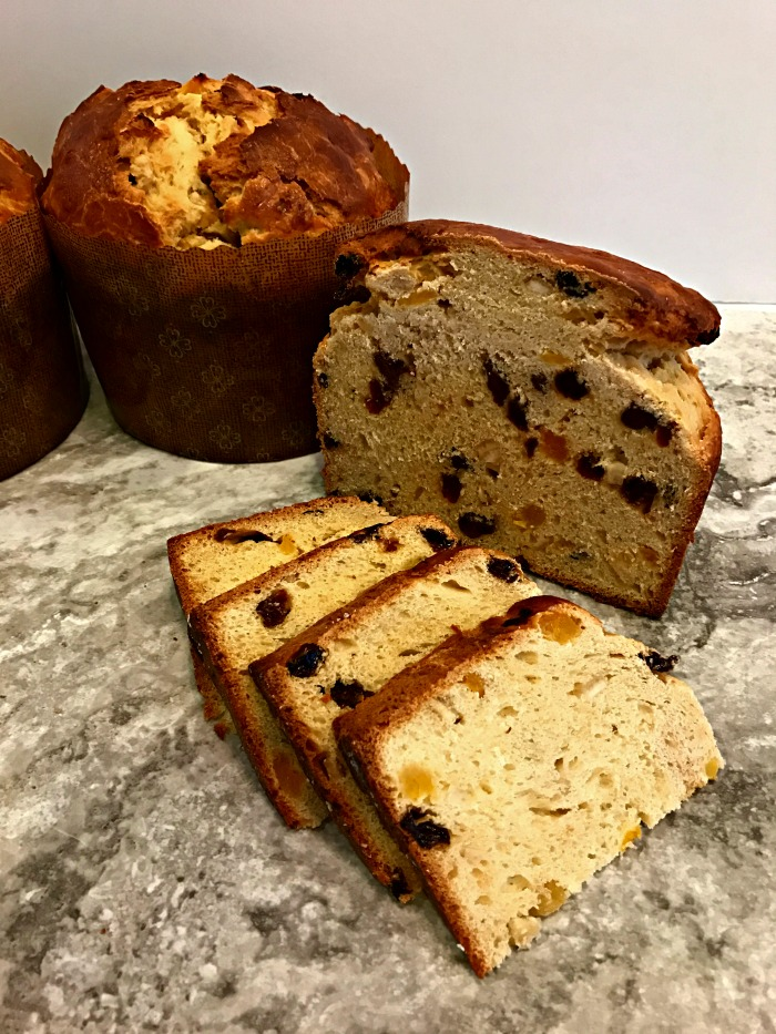 I've been wanting to make homemade panettone for years, but was always intimidated by stories that this slightly sweet, eggy, Italian raisin bread took days to make. Who has time for that? So I stuck with mediocre store bought varieties. That was until this year.