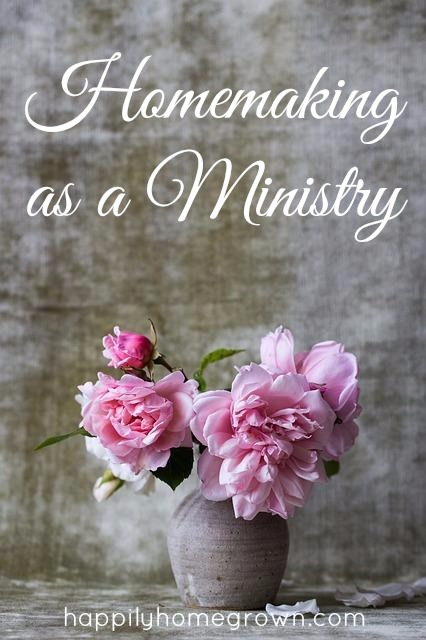 Over the years I have realized that being a homemaker is a calling. Homemaking is just as important as any other type of ministry because as the wife and mother – the way our family feels at home speaks volumes about how we minister to their needs.