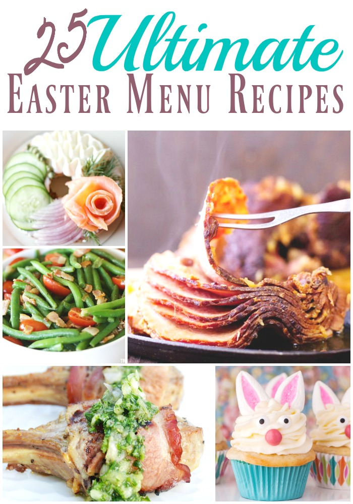 Hosting Easter? Attending a get together and have no idea what to make? We're here to make your life easier this year. We've teamed up with some other amazing bloggers to bring you the ultimate Easter menu. From the main dish to sides, from desserts to even drinks, we've got you covered with 25 delicious recipes! Look no further than right here.