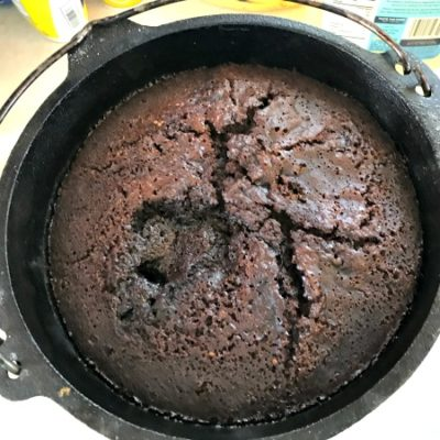 Dutch Oven Chocolate Lava Cake
