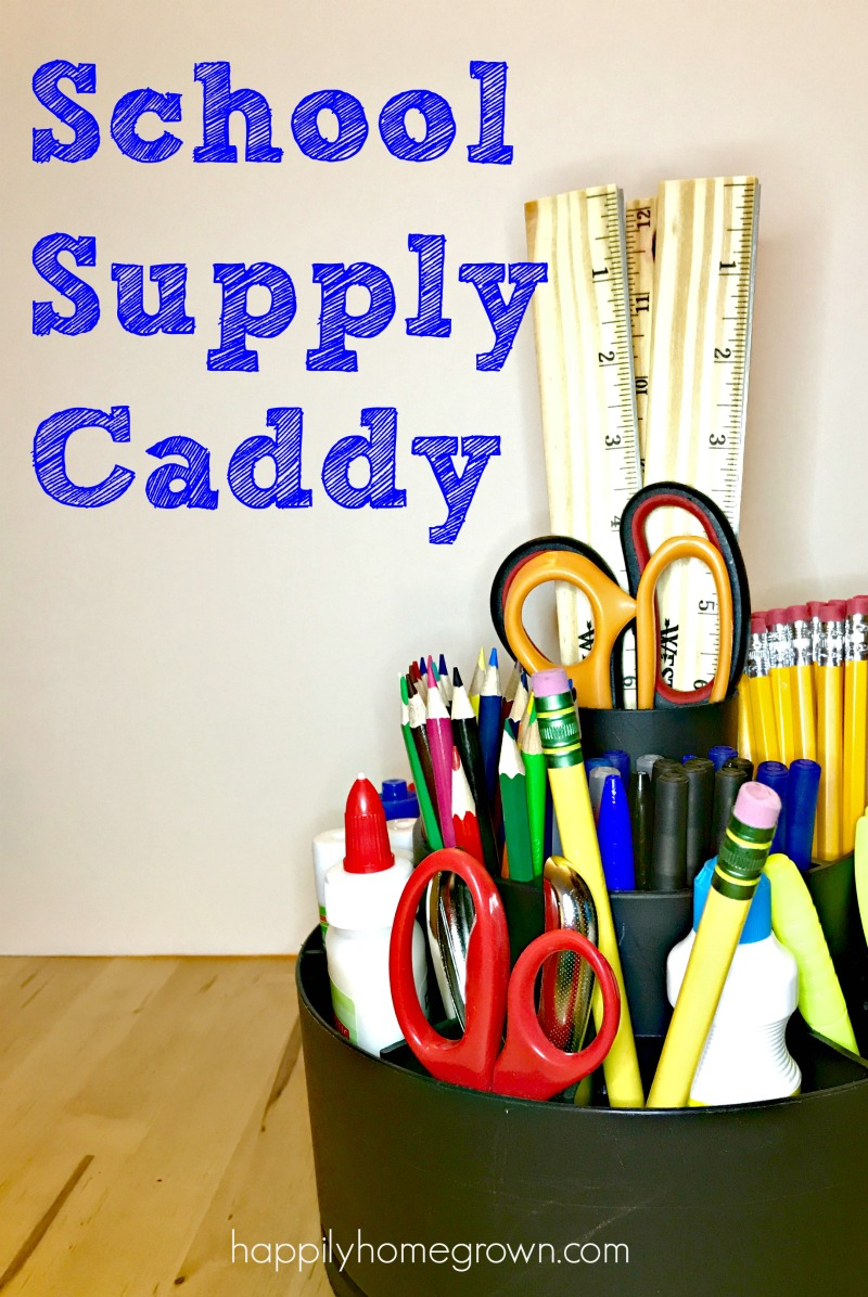 Having a school supply caddy will keep your homeschool or homework space organized, giving your child all of the resources they need at their fingertips.
