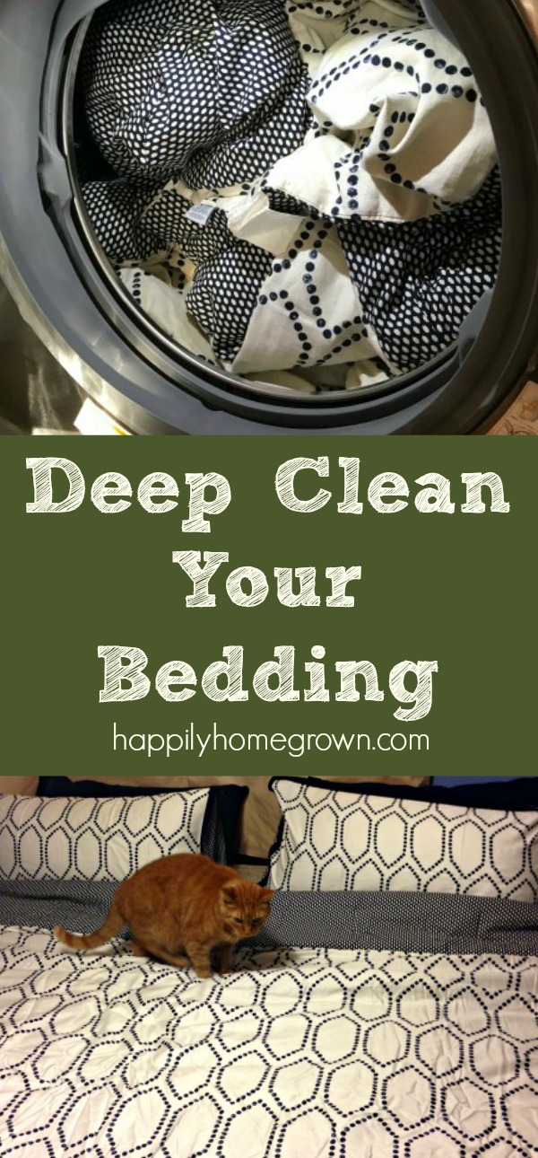 Deep cleaning your bed linens is simple and should be done several times a year to reduce the build-up of skin cells, body oils, germs, and dust mites. A single laundry day is all you need to clean your mattress, pillows, and all of your bedding so you can have a great night's sleep!
