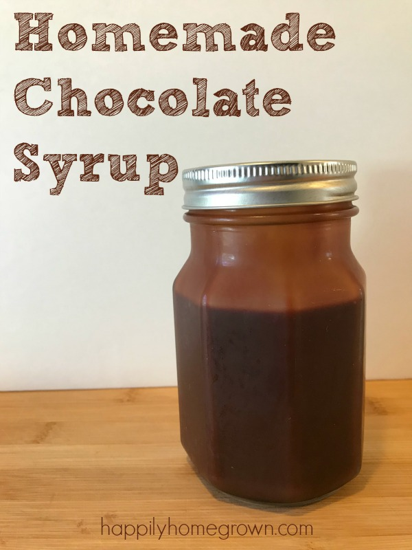 Why buy it when you can make it from scratch at home?! Today we made homemade chocolate syrup perfect for your chocolate milk or ice cream.