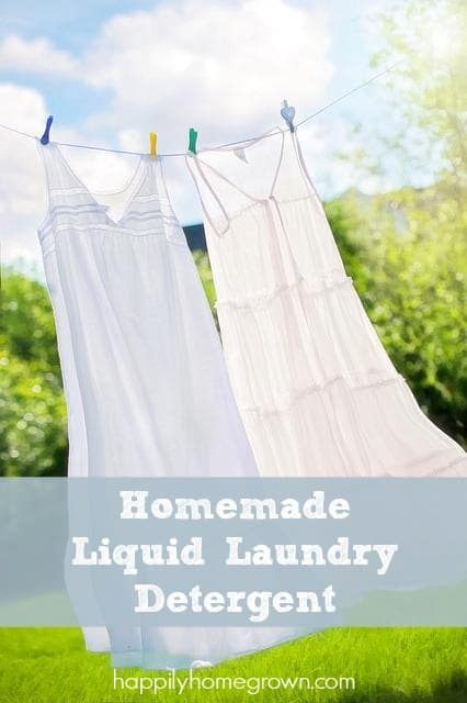 I make my own laundry detergent instead of buying it at the store, and you know what, I like it more than the name brand that I grew up using!
