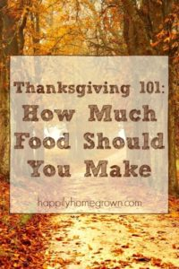 Thanksgiving 101: How Much Food Should You Make