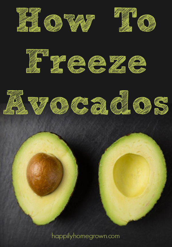 When I learned that you could freeze avocados it rocked my culinary world!  Now I can purchase avocados on sale and freeze them for later.