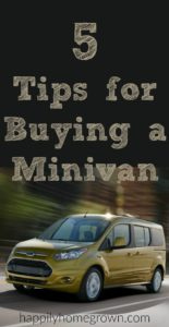 5 Tips for Buying a Minivan