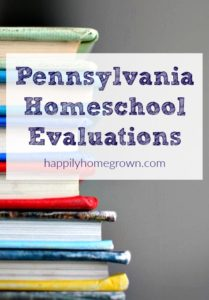 Pennsylvania state law requires that every homeschooler's progress is evaluated once per academic year (July 1-June 30) to ensure that progress has occurred in the homeschool program. Stephanie Huston can help you comply with state law by offering expert evaluations.