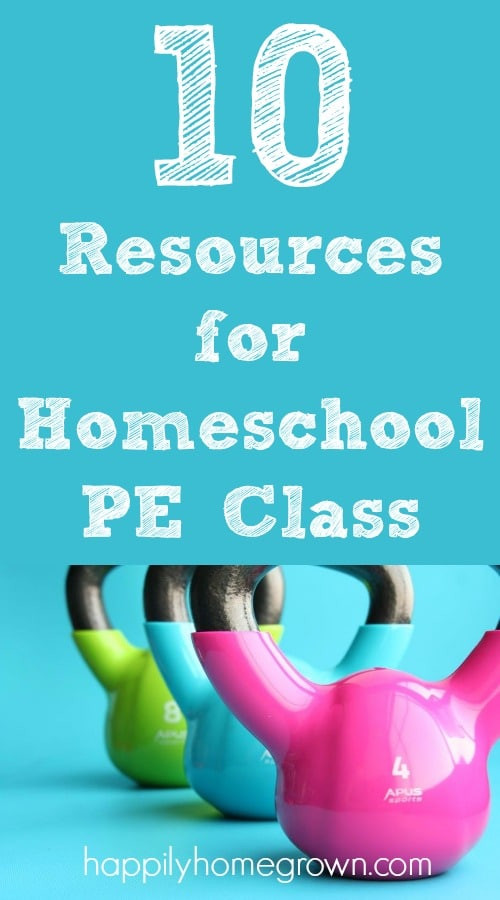 Having some PE gear at home, and know what resources are readily available has made a world of difference in our homeschool and in our children's fitness levels.