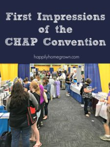 First Impressions of the CHAP Convention