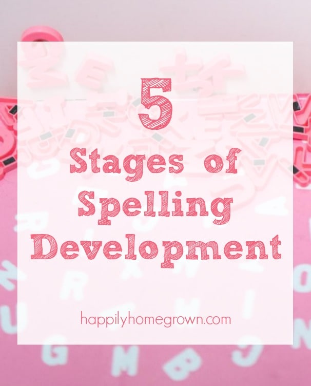5 Stages of Spelling Development
