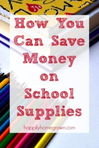 How You Can Save Money on School Supplies
