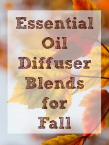 Essential Oil Diffuser Blends for Fall