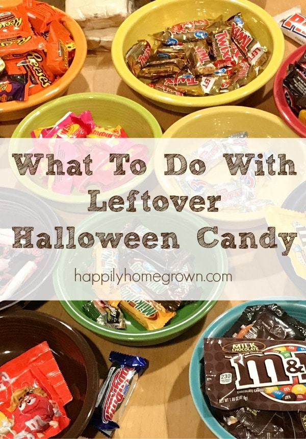 There are a number of creative ways to get rid of the leftover Halloween candy - from donations to using it in baked goods.