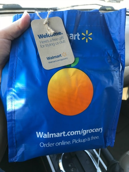 Walmart Grocery Pickup is seriously a life-changer!  You order fresh groceries, Walmart does the shopping and loads your car for FREE. How easy is that?